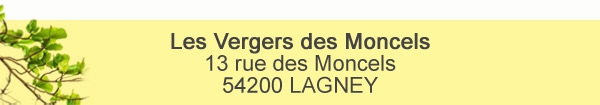 Les Vergers des Moncels 54200 LAGNEY